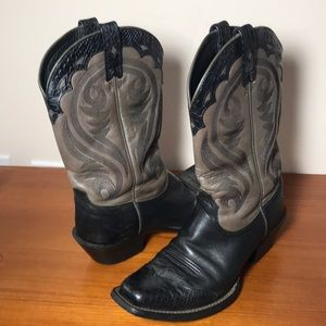 Ariat Cowboy Cowgirl Boots black taupe 7